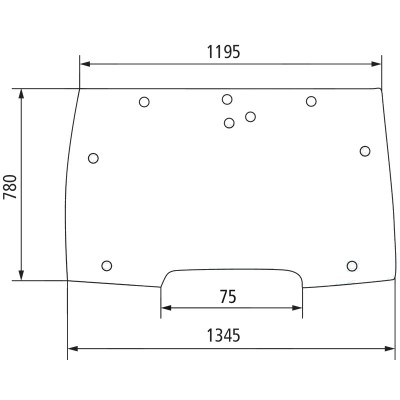 Szyba przednia wcięcie 75mm McCormick MC, CX, MTX