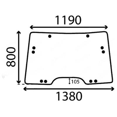Szyba przednia John Deere Seria 6030