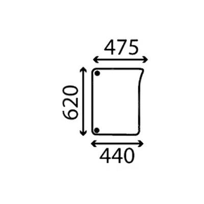 Szyba przednia dolna prawa John Deere Seria 6030