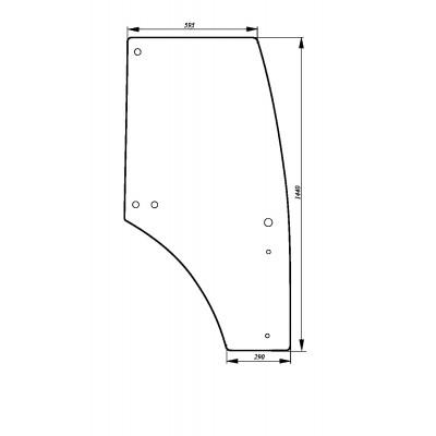 Szyba drzwi lewe John Deere seria 6D