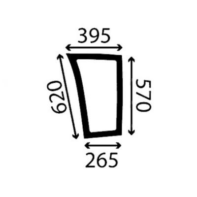 Szyba przednia dolna lewa Fendt Seria 900 Vario TMS