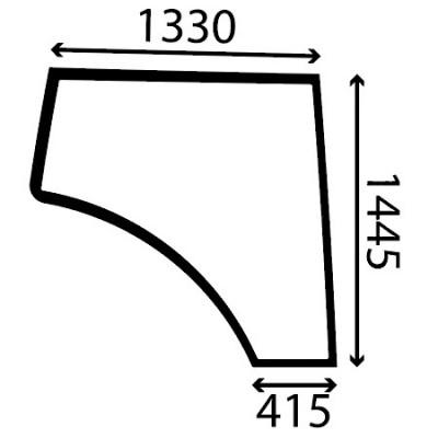 Szyba panel boczny prawy Fendt Seria 900 Tier 3
