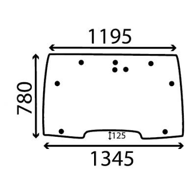Szyba przednia wcięie 125mm Case MX, CX