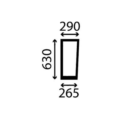 Szyba przednia dolna lewa Deutz-Fahr Seria 5D