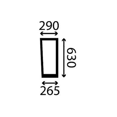 Szyba przednia dolna prawa Deutz-Fahr Seria 5D
