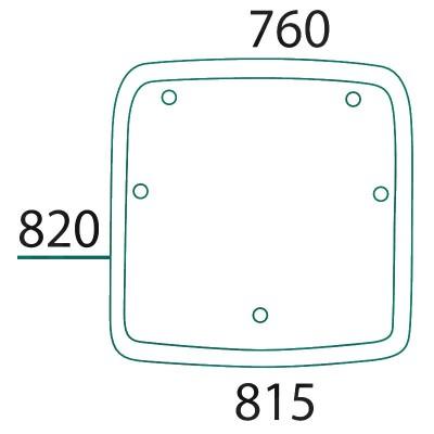 Szyberdach - szyba dachowa Deutz-Fahr Agrotron MK 3