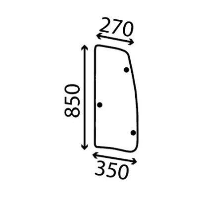 Szyba boczna lewa uchylna Deutz-Fahr Agrotron MK 3