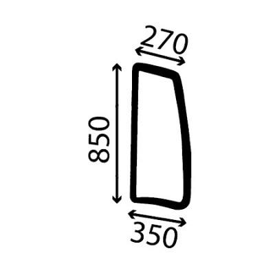 Szyba boczna lewa wklejana Deutz-Fahr Agrotron TTV Tier 3