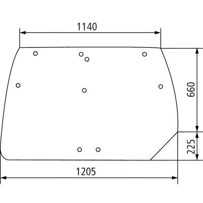 Szyba tylna Deutz-Fahr Agrotron Profiline