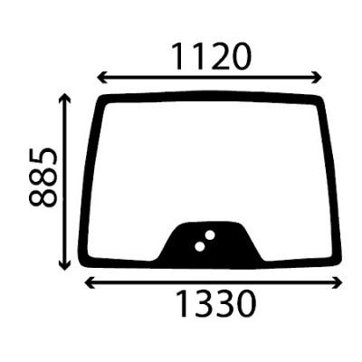 Szyba przednia Deutz-Fahr Agrotron Profiline